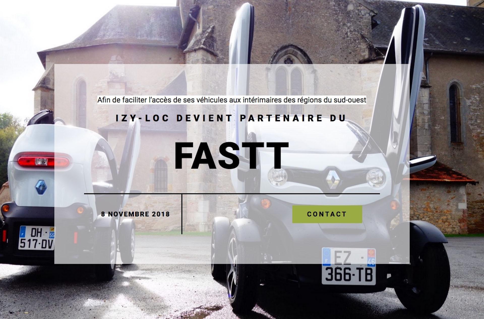 Partenariat IZY-LOC avec le FASTT