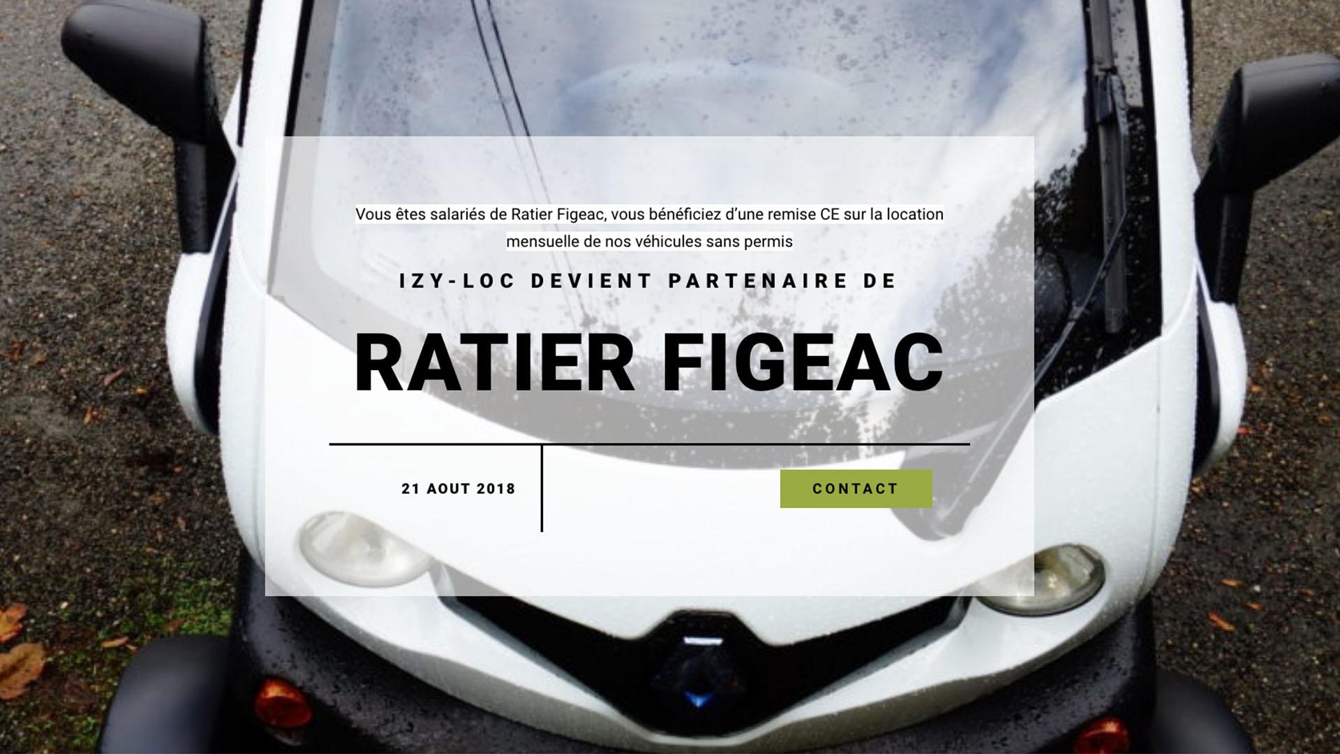 Partenariat Izy-loc Ratier