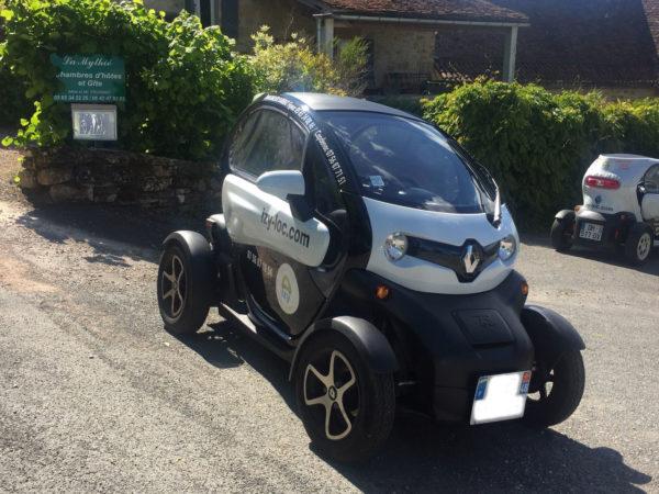 Renault Twizy avec vyniles publicitaires